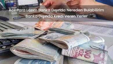 Acil Para Lazım Banka Dışında Nereden Bulabilirim [ÇÖZÜM]