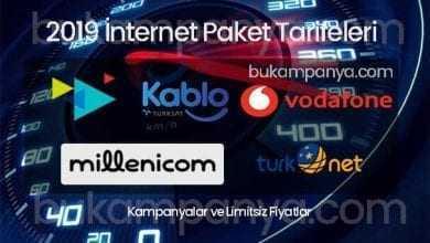 Turkcell Superonline, Türknet, Millenicom 2019 İnternet Paketleri Fiyatları