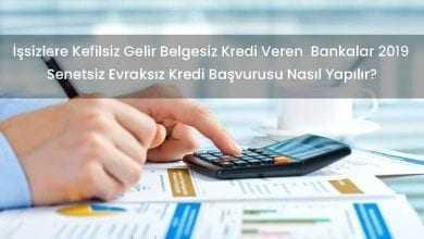İşsizlere Kefilsiz Gelir Belgesiz Kredi Veren Bankalar Başvuru