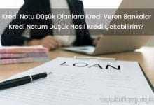 Kredi Notu Düşük Olanlara Kredi Veren Bankalar 2019