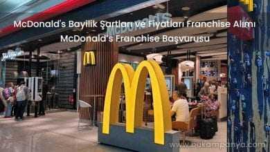 McDonald's Bayilik Şartları ve Fiyatları Franchise Alımı 2019