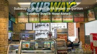 Subway Franchise Bayilik Bedeli ve Şartları 2019