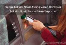 Faizsiz Taksitli Nakit Avans Veren Bankalar 2019